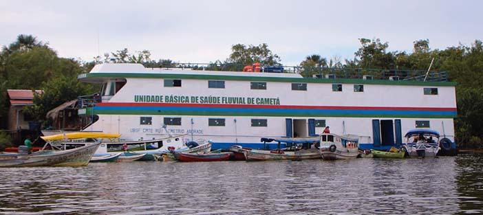 Ações itinerantes em UBS fluvial no município de Cametá levam mais de 8.000 atendimentos para cidadãos de ilhas distantes da cidade